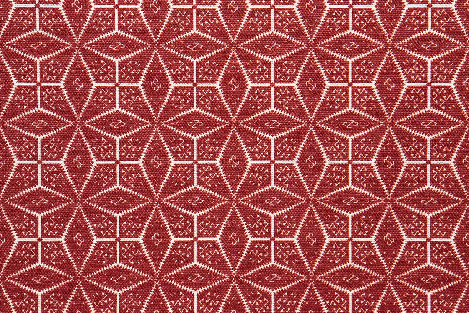 Abbot Atlas naxos red fabric linen printed