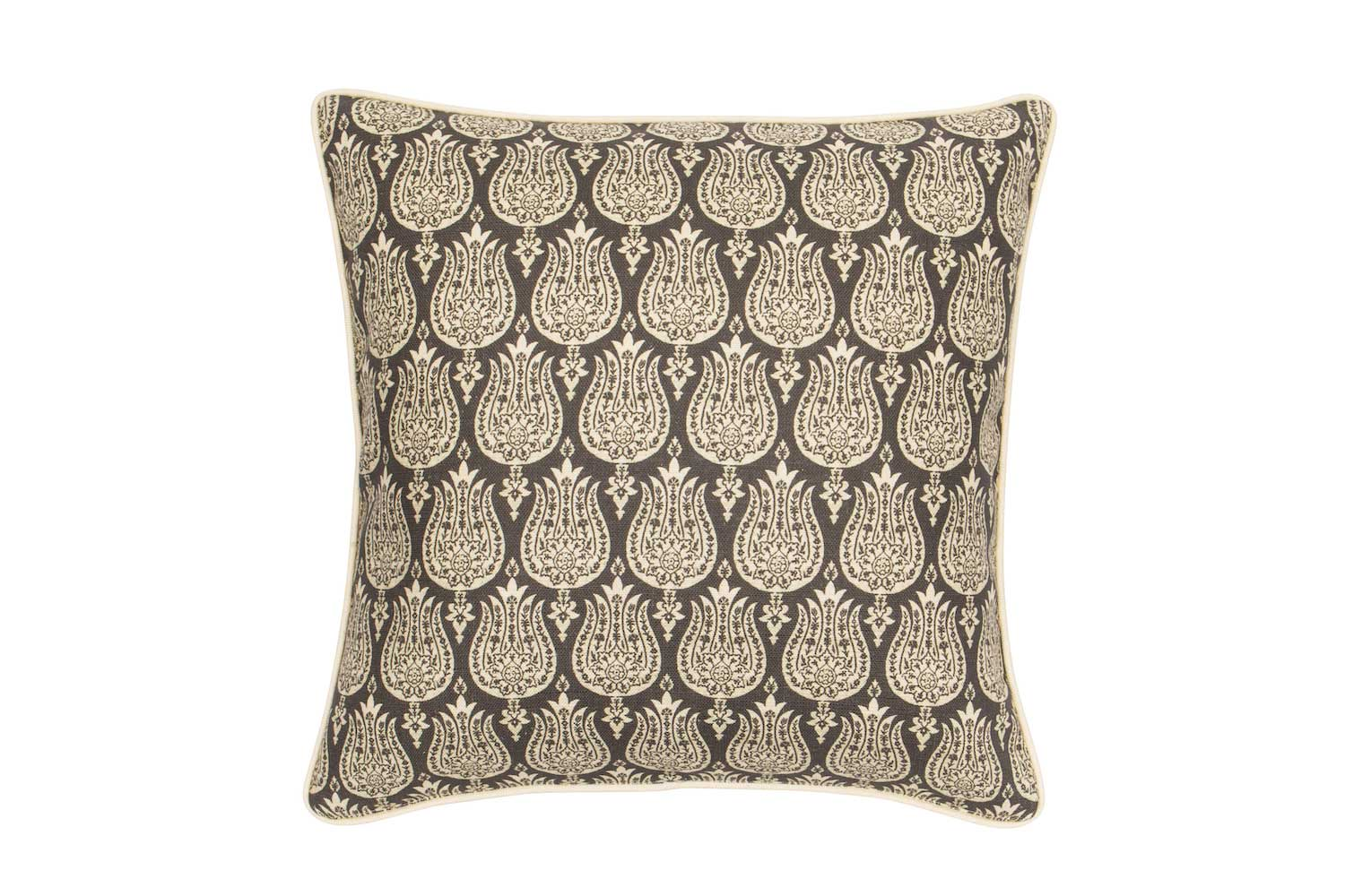 Abbot Atlas ottoman tulip stone fabric linen printed pillow cushion