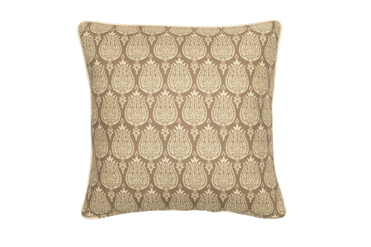 Abbot Atlas ottoman tulip sand fabric linen printed pillow cushion
