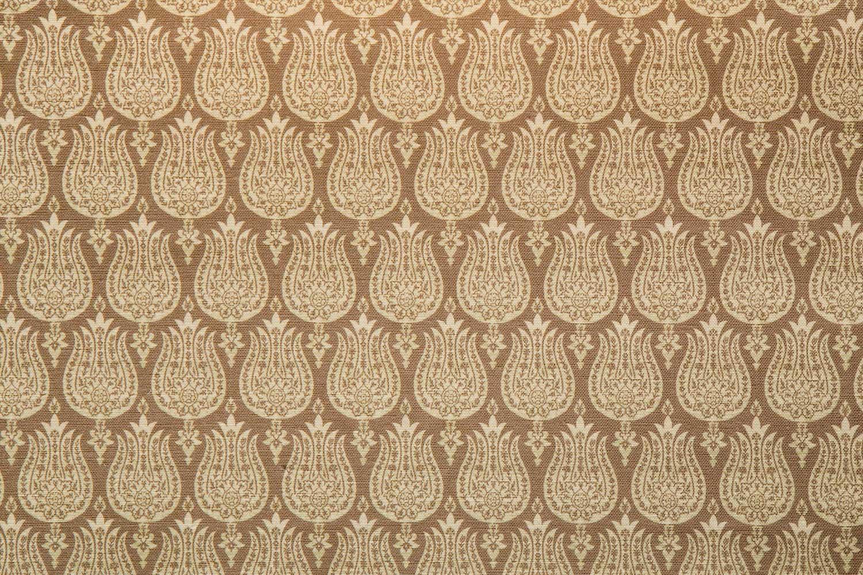 Abbot Atlas ottoman tulip sand fabric linen printed