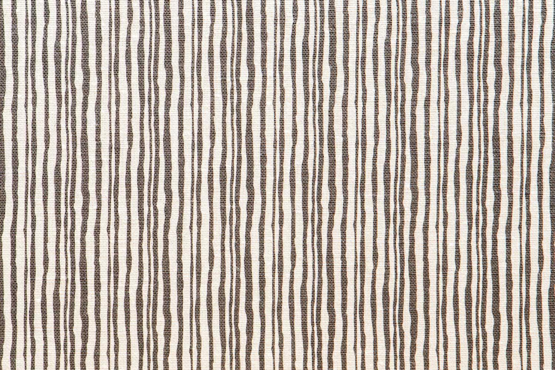 Abbot Atlas brush stripe stone fabric linen printed
