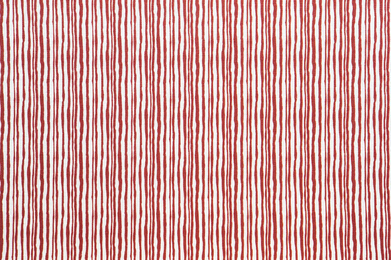 Abbot Atlas brush stripe red fabric linen printed
