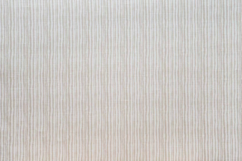 Abbot Atlas brush stripe sand fabric linen printed