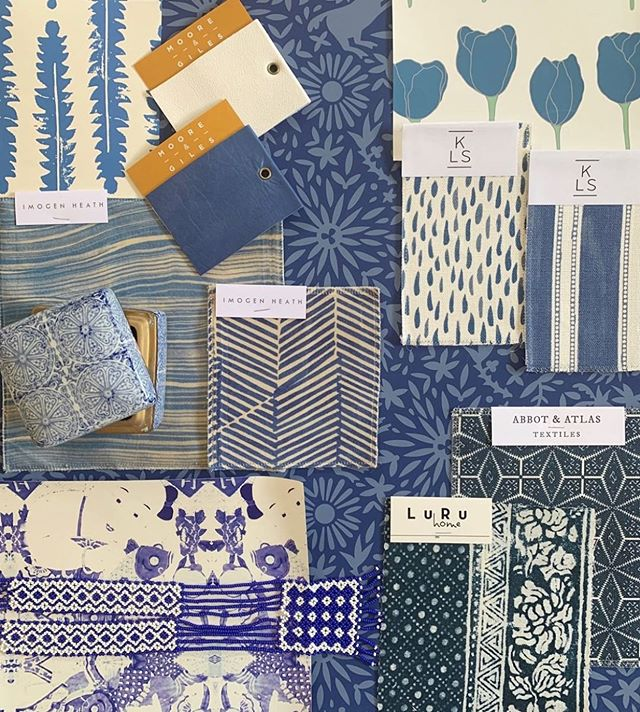 "From our friends @supplyshowroom, ""when in doubt - Blue & White!"" #shopitwithsupply"
