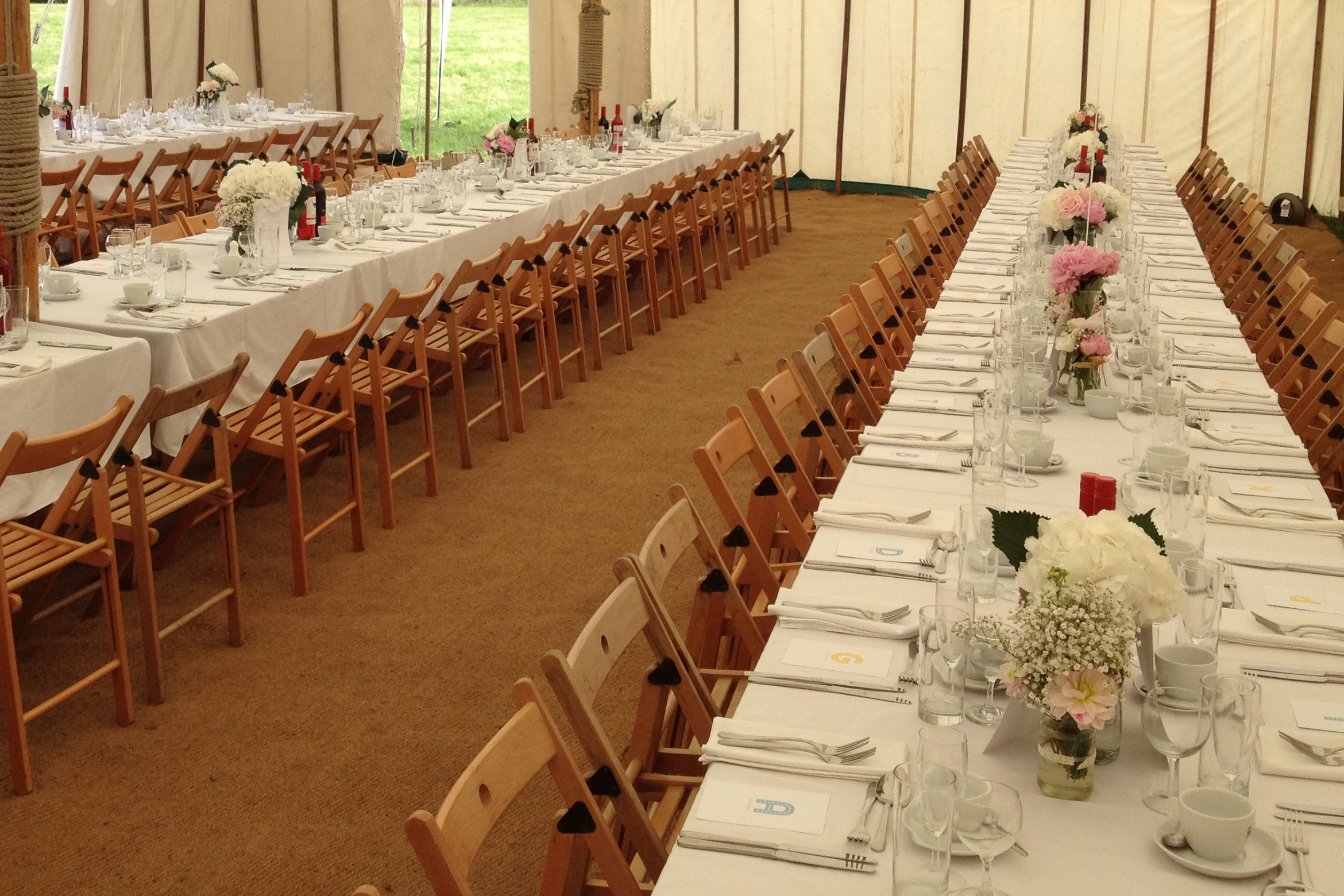 Marquee wedding with catering by PJ taste in Derbyshire