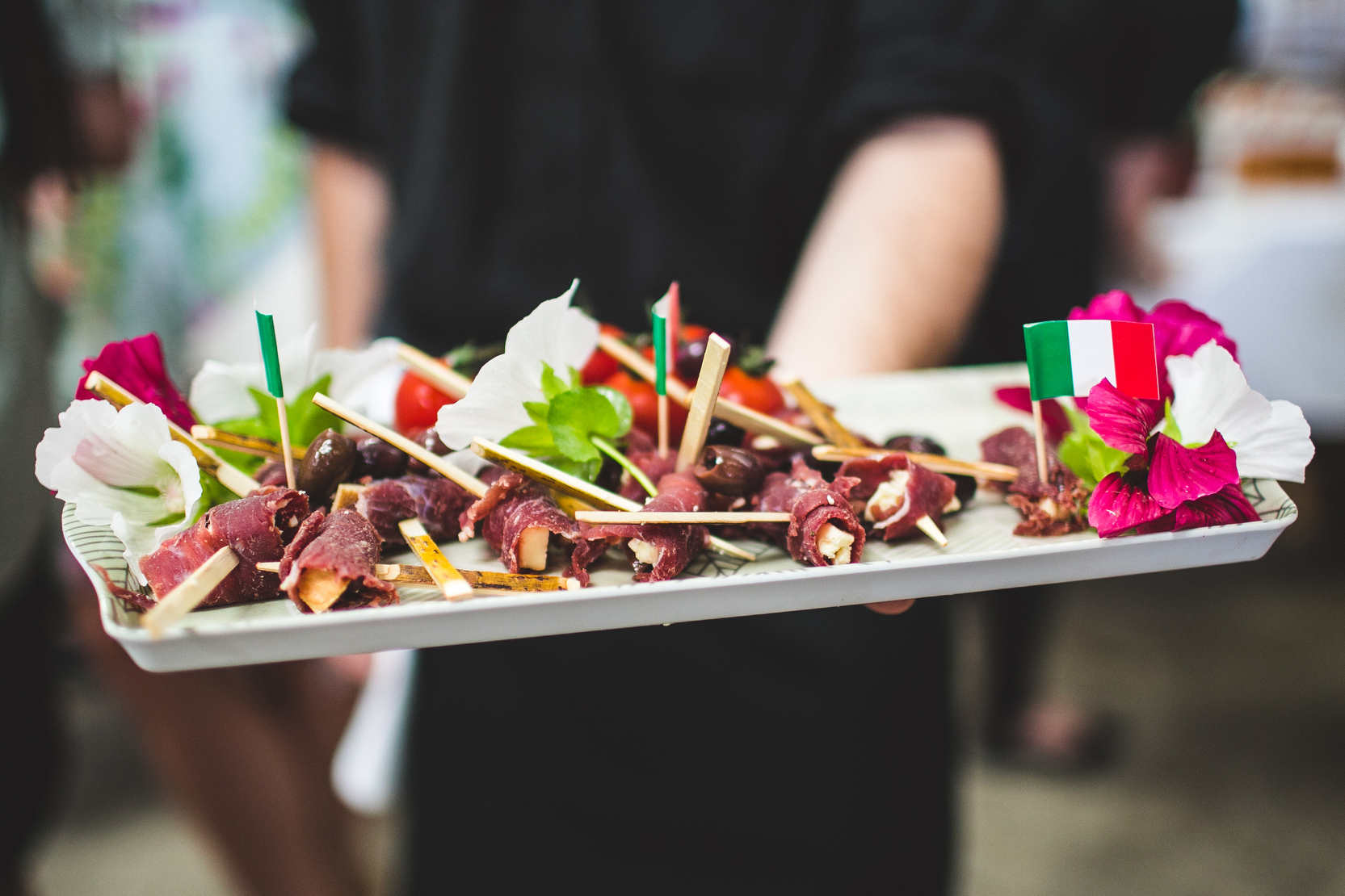 Served canapes