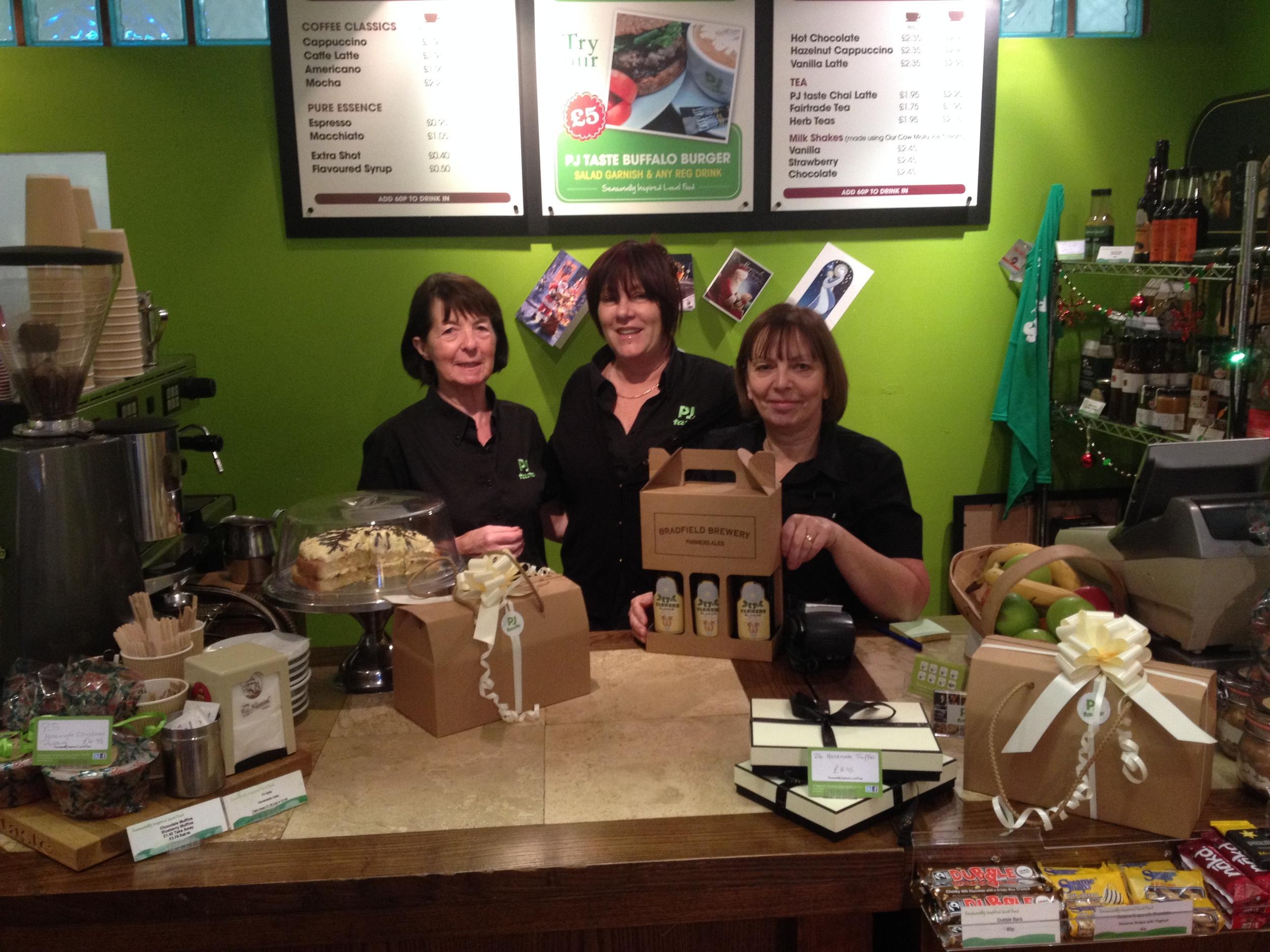 Fran, Pat and Julie at PJ taste