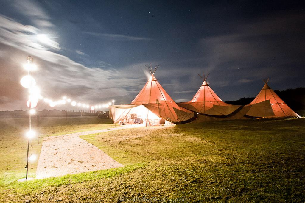 Tipi marquee for wedding catering