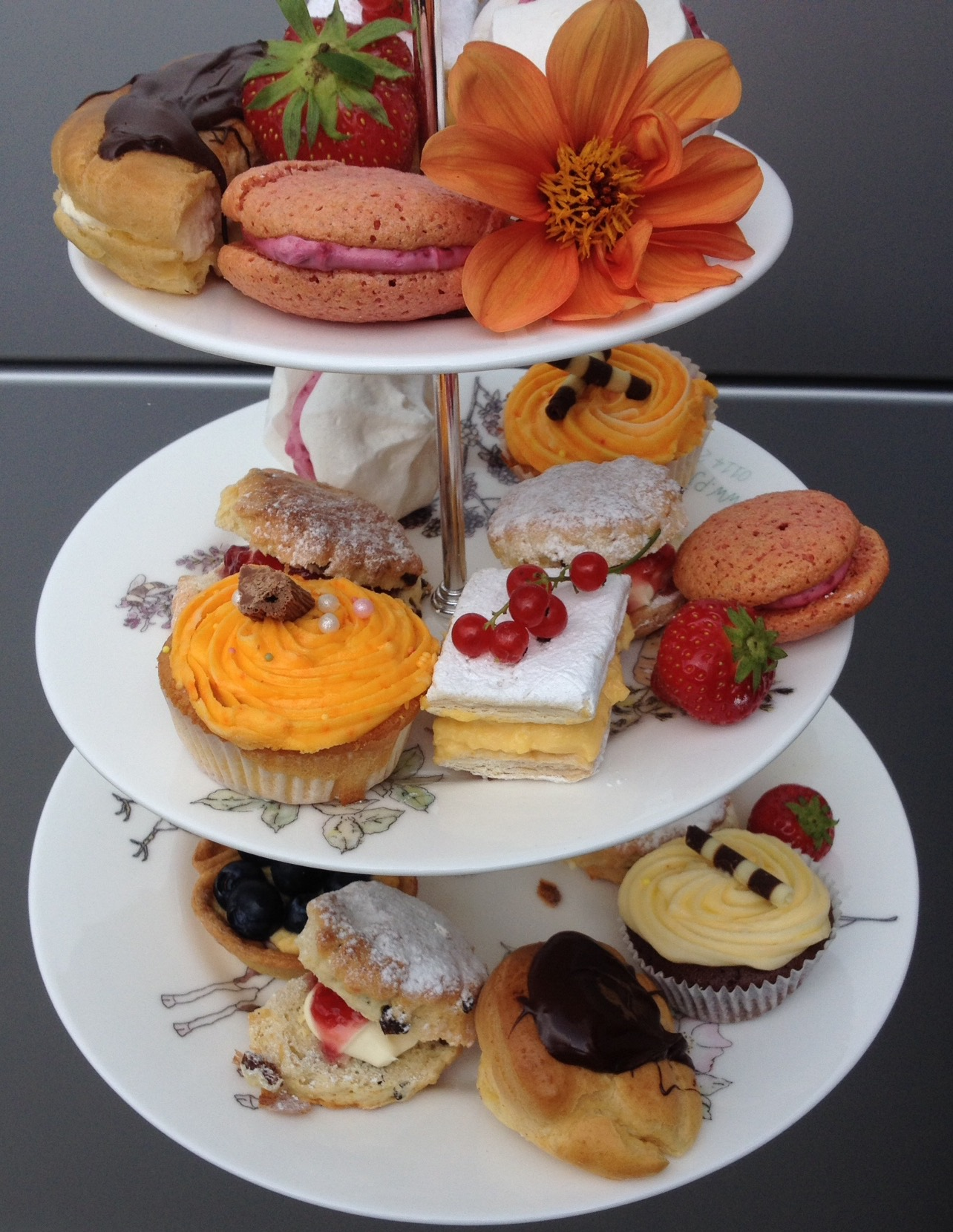 Afternoon tea with handmade cakes