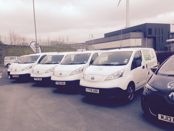 One of our Nissan vans alongside those from other Sheffield business on an  Inmotion  Open Day
