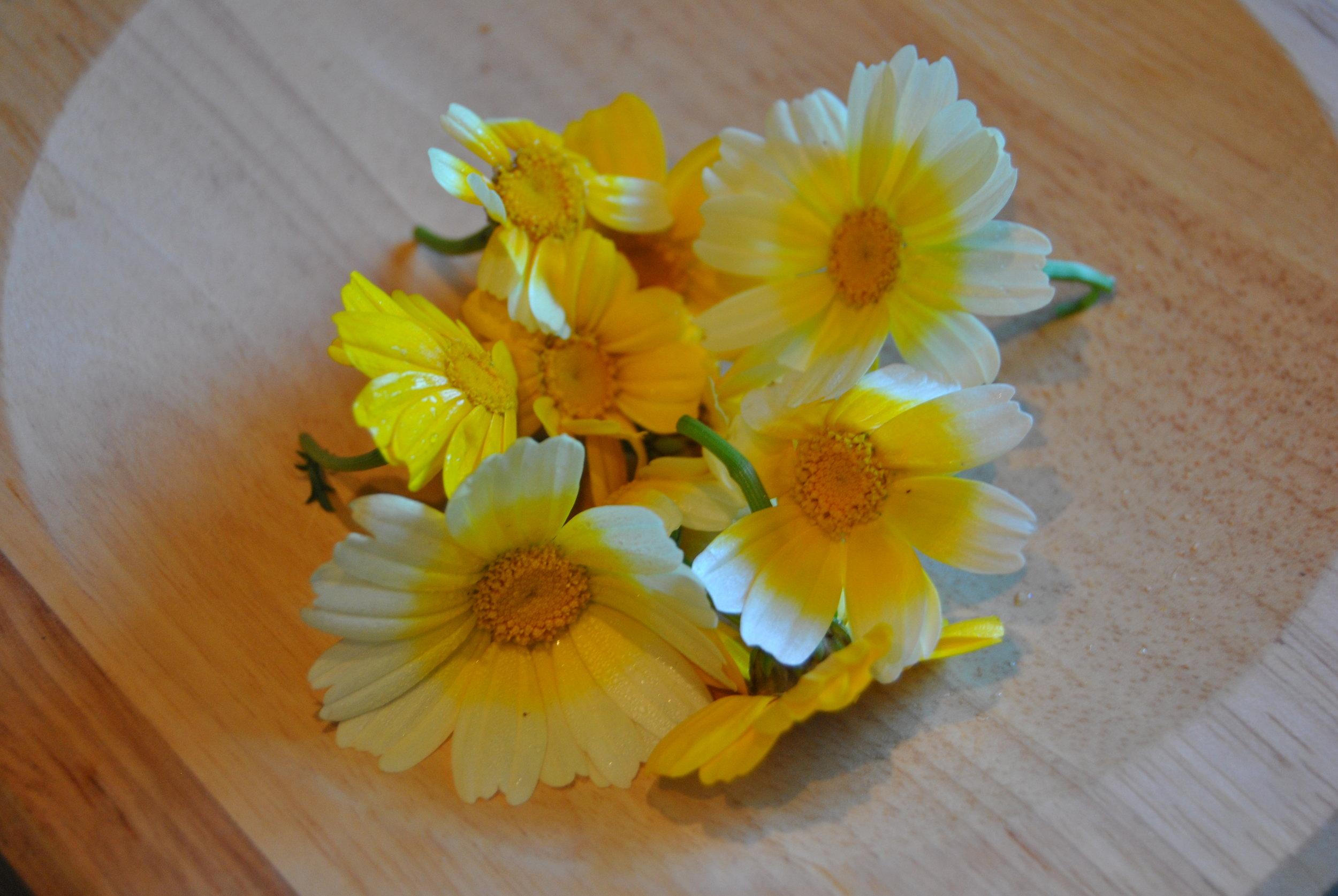 EdibleChrysanthemum_PJtaste.JPG
