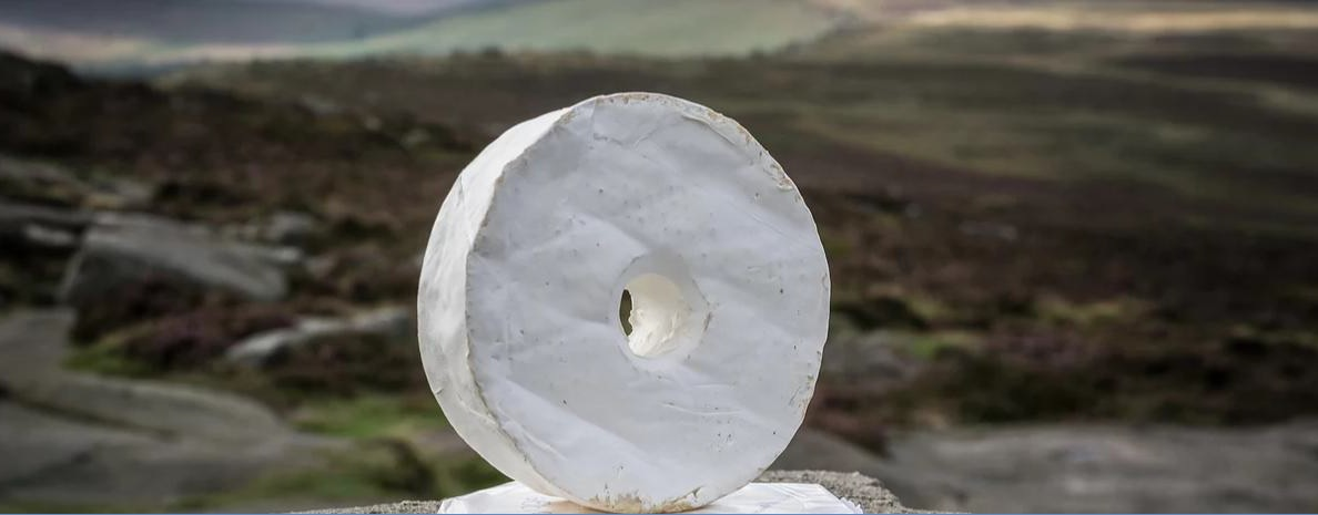 The innovative Stanage Millstone Cheese by Cow Close Farm