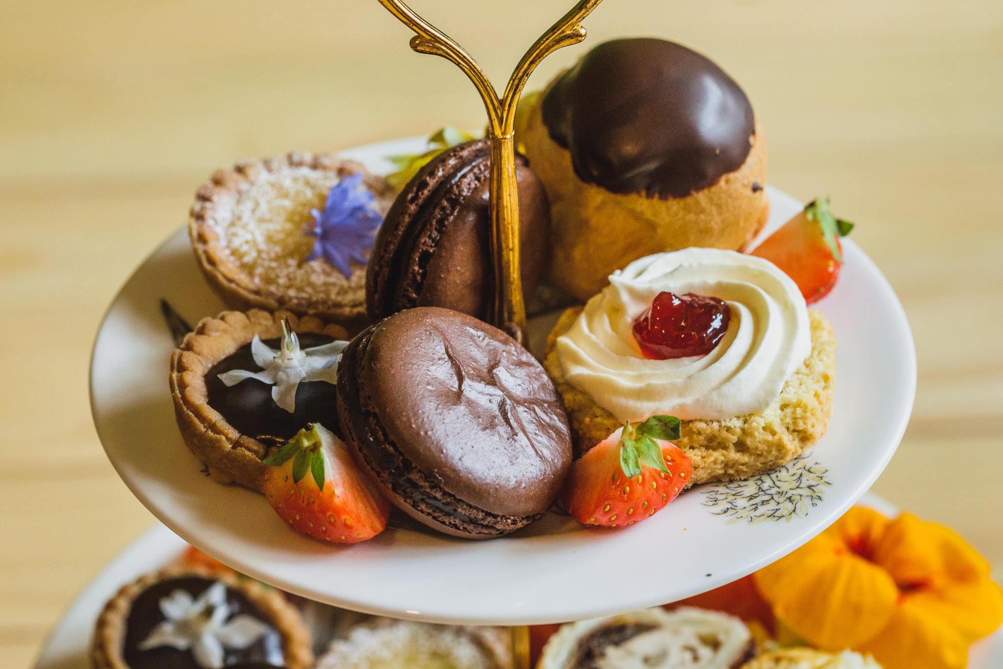 Afternoon tea cake selection