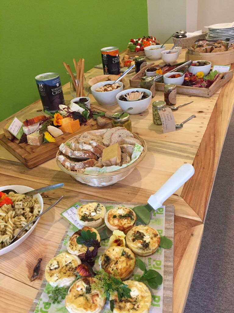 Buffet lunch served in our conference room