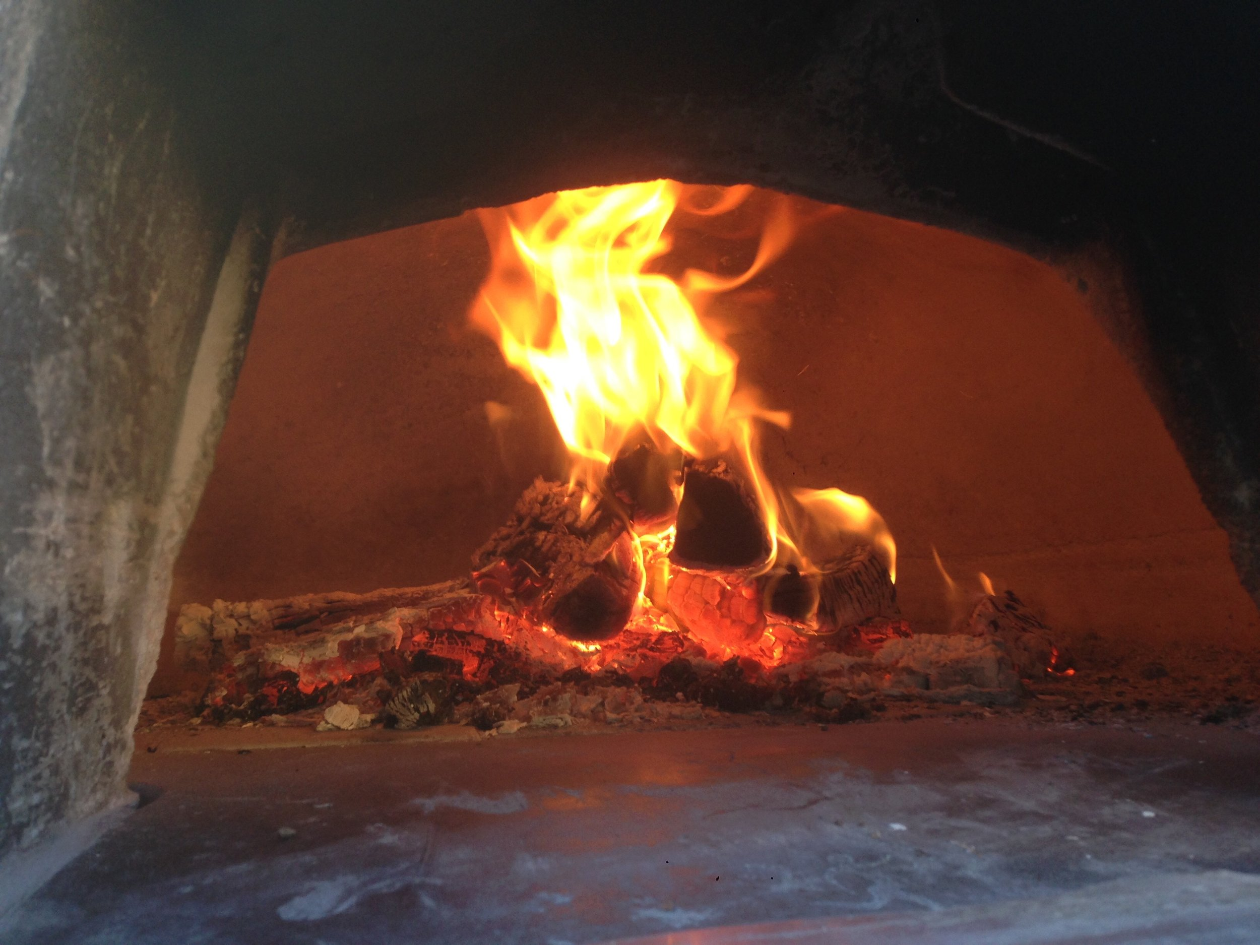 Pizza oven tile floor