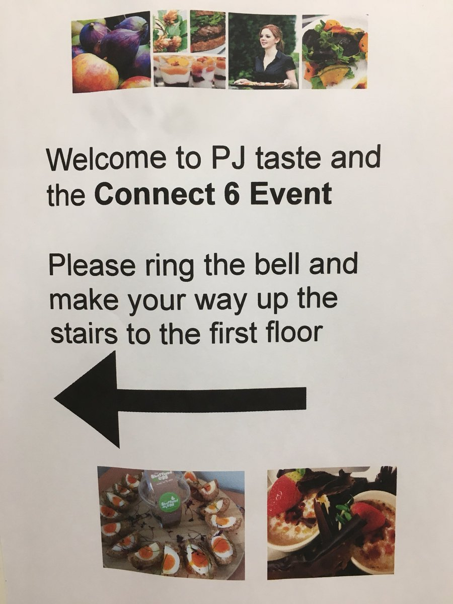 PJ taste notice to welcome guests to the venue