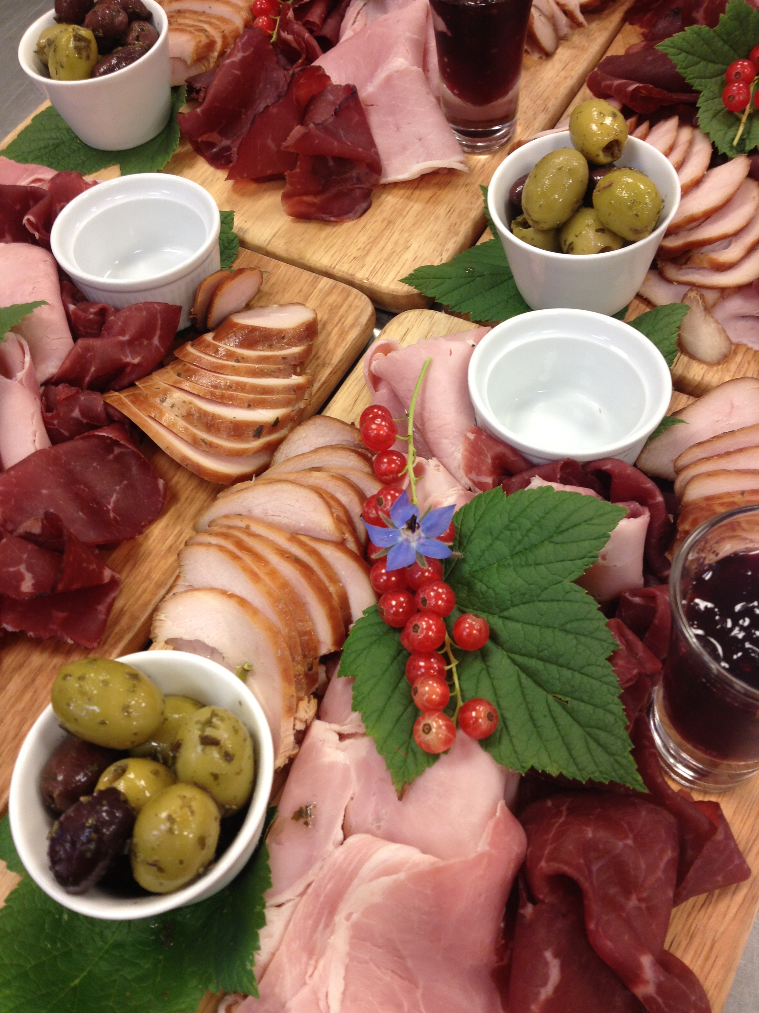 Meat platters for sharing