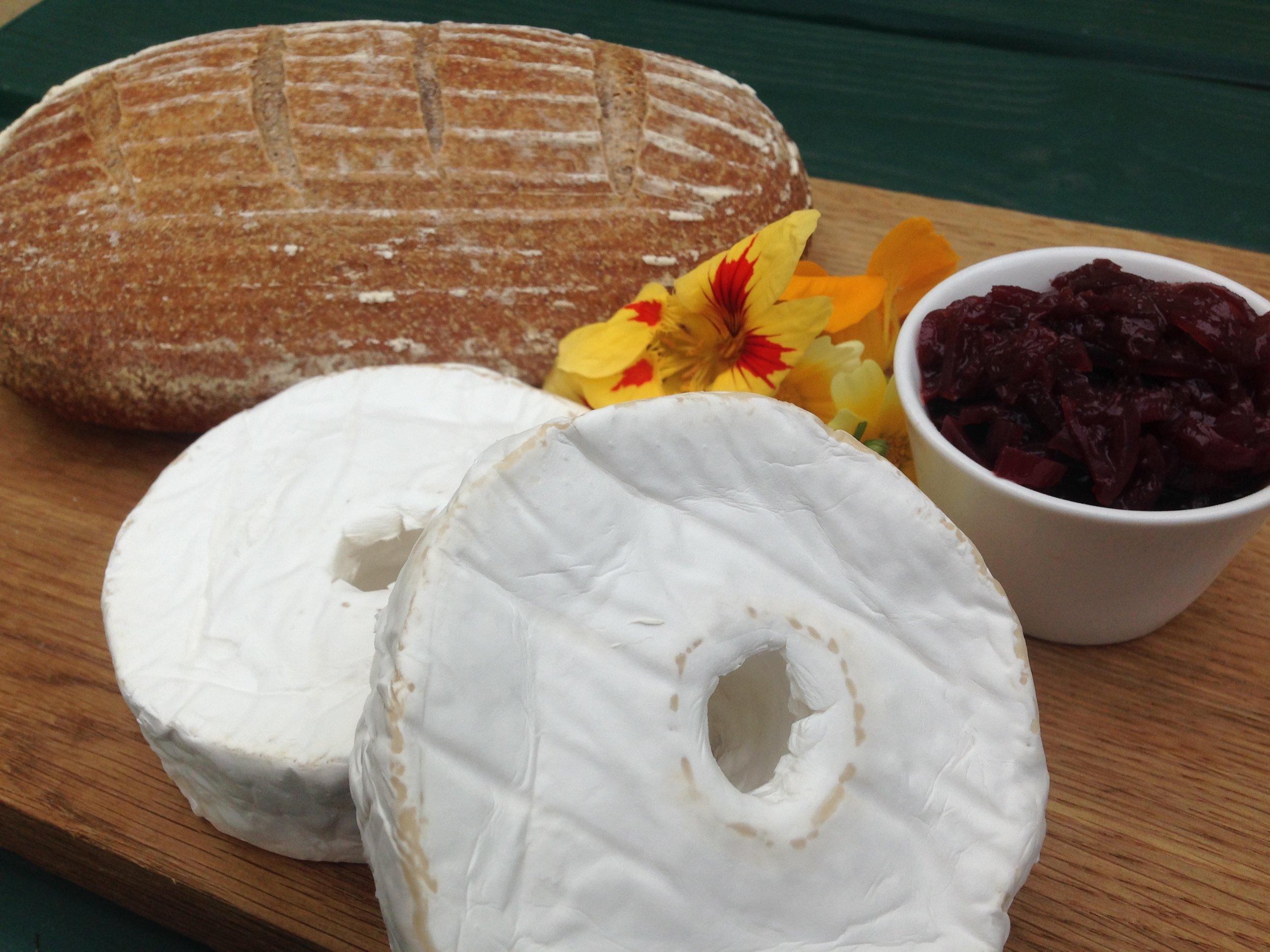 PJ taste sourdough bread with Hathersage Millstone cheese