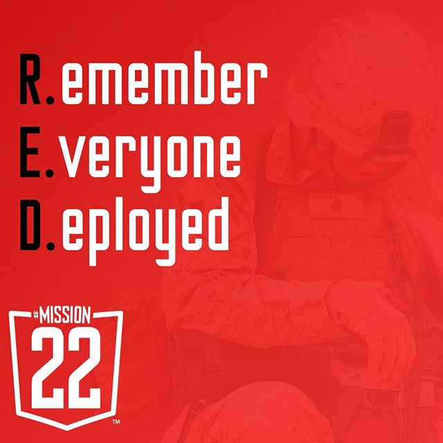 Today is RED Friday. Remember to wear red today to show your support. We've got ours on.  #redfridays #neverforget #unitedweheal #mission22