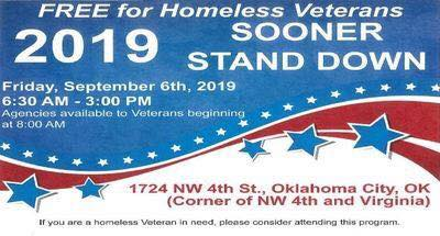 This is put on by the Department of Veterans Affairs and there will be numerous agencies out to assist the homeless Veterans in our community. This is a one day event from 8am - 3pm (or until the last Vet is served).  Services Offered: VA Registration, Housing, Employment Assistance, and Health/Dental Care, (just to name a few of many), as well as breakfast and lunch served, clothing, personal care items and non-perishable items at hand for our Veterans.