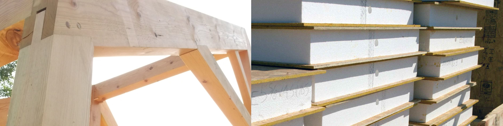 Images courtesy of  Vermont Timber Frame  s and  Green Building Advisor