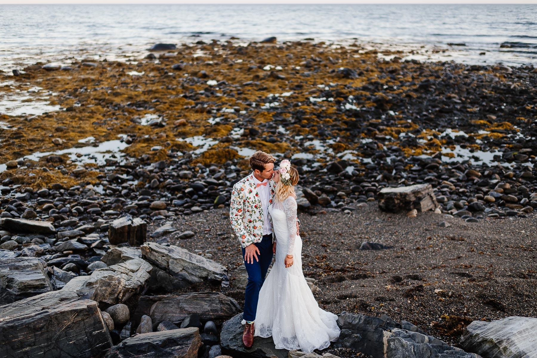 137-Bohemian New Hampshire Beach Wedding Rye New Hampshire Weddings Summer Sessions Surf Shop Longbrook Photography.jpg