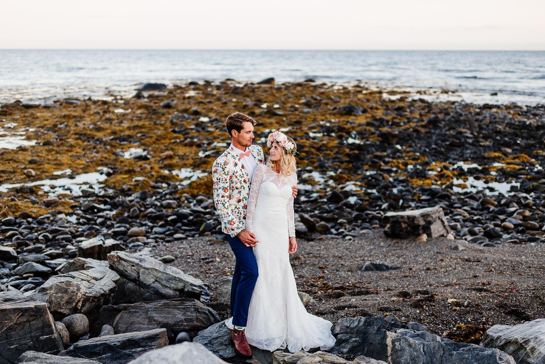 138-Bohemian New Hampshire Beach Wedding Rye New Hampshire Weddings Summer Sessions Surf Shop Longbrook Photography.jpg