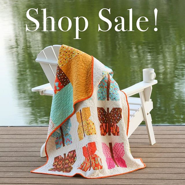 Say goodbye to summer with a Labor Day sale! All PDF & paper patterns in my shop are 20% off thru Monday. See shop for details & the shop link in my profile. #EtsySalesEvent  #patternsale #quiltsofinstagram