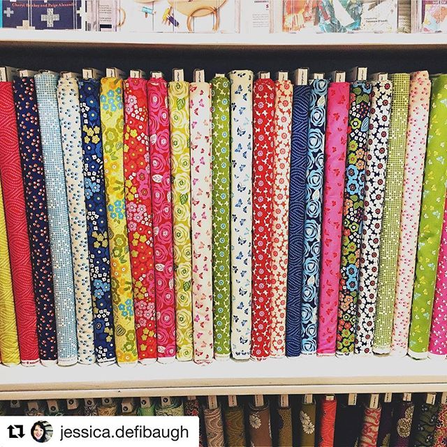 Love seeing Lazy Days in stores. Looks so fun all together like this! #Repost @jessica.defibaugh #lazydaysfabric #showmethemoda #quiltinginmissouri - - - - - - How about some fabric eye candy?  You know you want to get over here and pet this yumminess.  We can hook you up with Fat Quarters or 1/2 yd cuts.  And we won't tell. You will find us in Brunswick, Missouri at Sew Sweet Quilt Shop.  Store Hours are Tues through Sat from 10am to 5:30pm. Lazy Days by Gina Martin for Moda Fabric