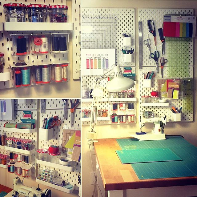 The after and the before. Thank you IKEA for giving me back my work surface! #IKEA #sewingroom #organization