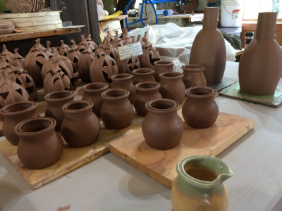 Stoneware work in progress.
