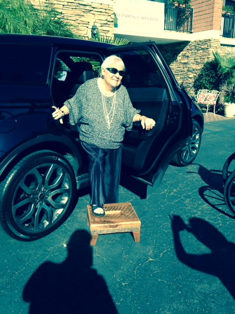 Ben & Ed    With her new stool, Mom can step in to the SUV easily.    My thanks to you guys.    Mark