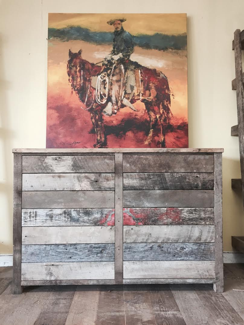 This 6 drawer cabinet can be used in any room, bedroom , office, living room etc. It was custom designed & hand crafted here at the U.S. Reclaimed workshop. It is for sale now in our showroom so come check it out!