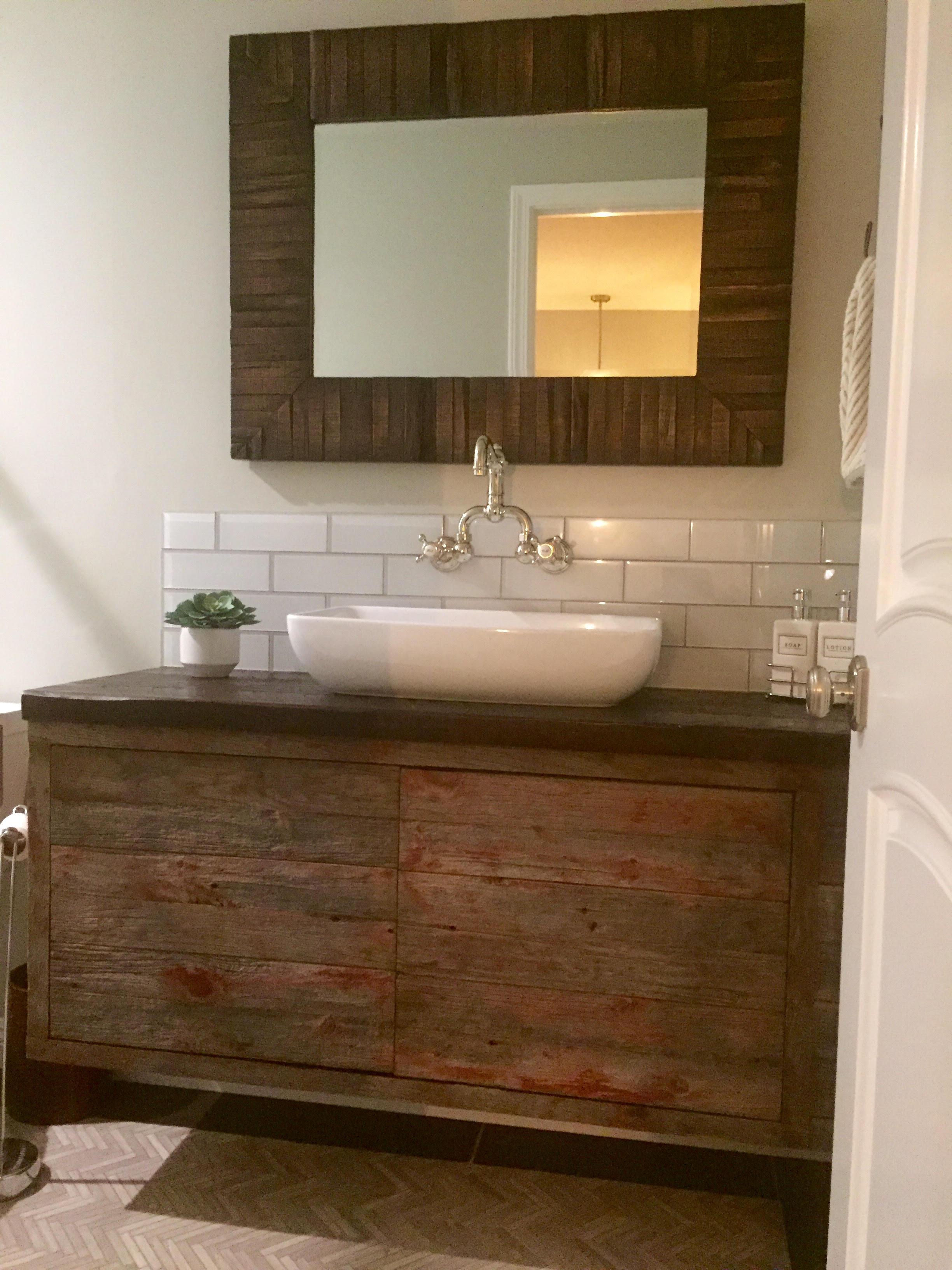 U S Reclaimedu S Reclaimedreclaimed Barn Wood Bathroom Vanity