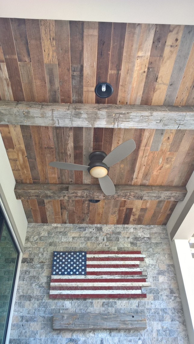 This custom built American Flag using U.S. Reclaimed Wood is a magnificent accent for any wall. The American Flag wall art was built using reclaimed American wood and is resting among an abundance of unique pieces of American reclaimed wood. The American Flag stands for so much and may be used as a symbol to reflect on and admire the members of our country's armed forces, especially during Memorial Day.  Memorial Day is a time to recognize and remember the members of the United States of America's armed forces. In observance of Memorial Day, U.S. Reclaimed will be closed Saturday 5/27 - Monday 5/29 and resume regular business hours Tuesday 5/30 (9 AM - 6 PM).