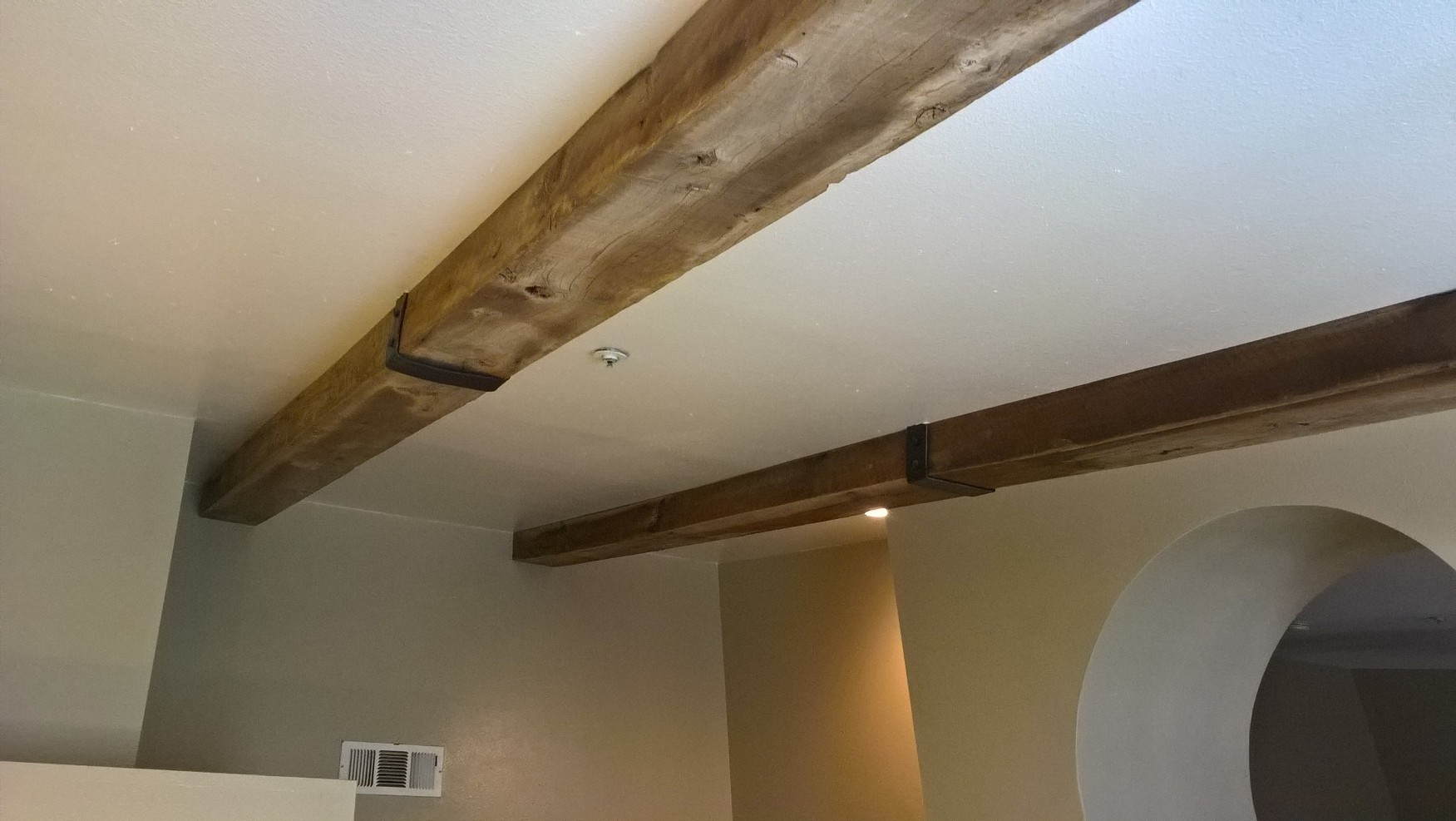 Ceiling Beams are a great addition to any home or space. Reclaimed beams can be purchased as a solid piece or beams can be custom design and built to order with reclaimed vintage lumber. U.S. Reclaimed, Vintage Lumber & Wood Works offers a variety of vintage lumber and reclaimed wood to custom design and build based on the wants and needs of the customer. Visit or contact the store to get started on your custom reclaimed wood project today.