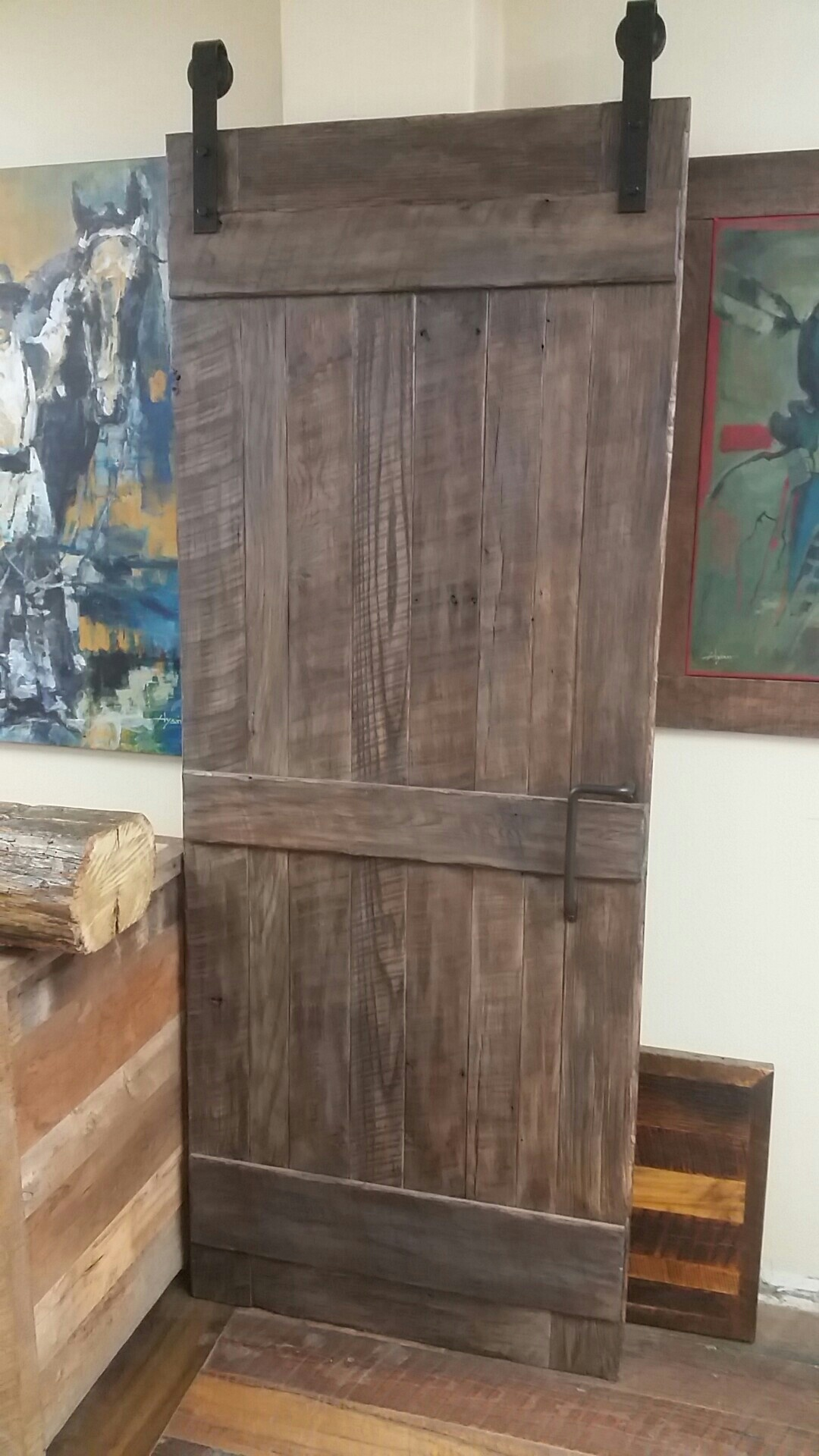 Custom barn doors using reclaimed wood is a great way to bring vintage material into the home. The barn doors are created using unique vintage lumber and offer a lot of character to any entry. U.S. Reclaimed, Vintage Lumber & Wood Works offers a variety of custom build options with reclaimed wood. Contact or visit the store to get started on your custom built piece today.