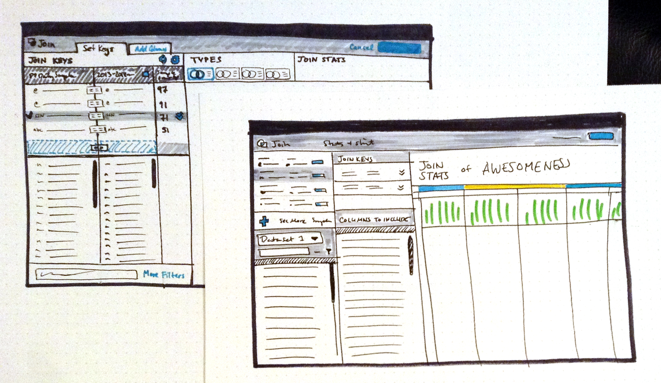 Higher fidelity UI sketches