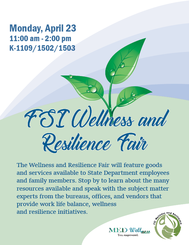 FSI Wellness and Resilience Fair Flyer