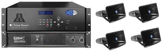 Six-SS shown with Outreach audio package, which is the most common speaker system quoted for all models.
