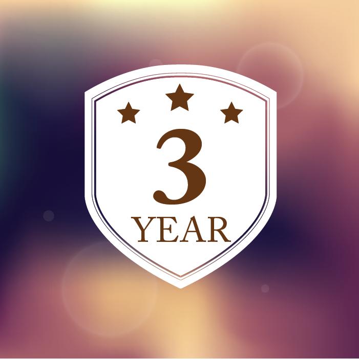 3 Year Warranty Logo