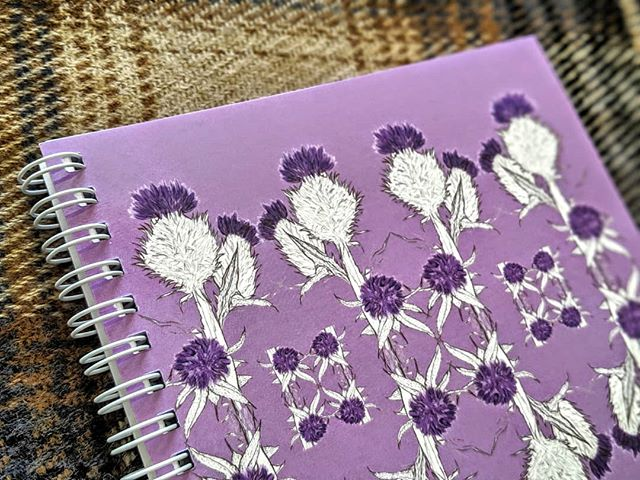New Product!  Our new thistle print is now available as a square spiral bound lined notebook.  Available on our website and Etsy shop  #thistlenotebook #thistle #thistles #thistleprint #purple #thistleillustration #thistleart #scottishthistle #shopsmall #scottishbrand #scottishgifts #outlander #scotlandlover #newproductalert #newproduct #stationarylover #stationery #stationaryaddict