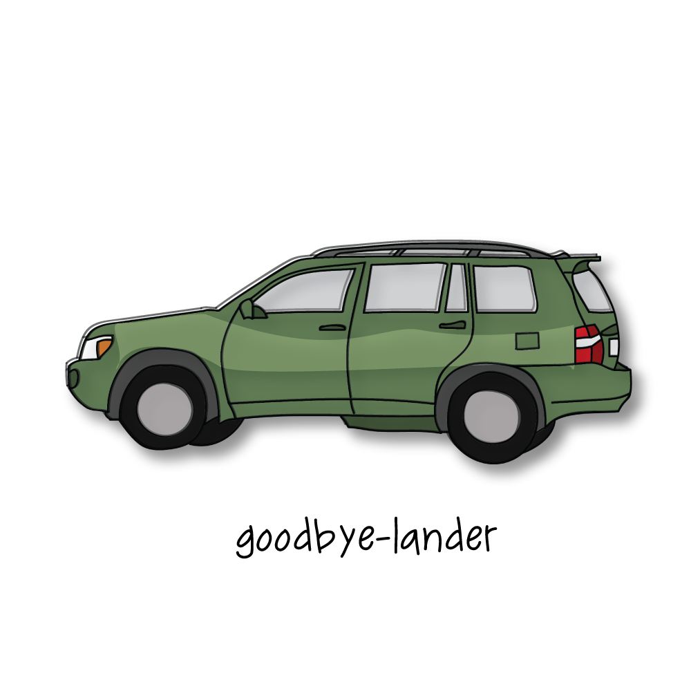 I said goodbye to my beloved highlander last week. It's a weird thing to stare at a hunk of metal and plastic and feel the weight of nostalgia, but when you drive a car for 11 years and have a knack for trouble/adventure… it's more like a scrapbook than a vehicle.   Together we've traveled far to the tip of the Upper Peninsula of Michigan, slept in Waffle House parking lots in Nowhere Mississippi, made countless treks down 75 to Florida (including a fateful one that I'm finally able to laugh about where the Dawgs were playing those pesky Gators and I put in diesel instead of regular…)   I've chauffeured hundreds of teenagers (even let one of them drive— to my complete and immediate regret). Completed a million Chick-Fil-A drive throughs. Forced people against their will to listen to podcasts (on a cassette tape adapter, no less.) Climbed to the top of North Carolina Mountains, day tripped to the beach with bikes in-tow, hauled canoes and kayaks and moved my stuff every single year I've lived in Athens (that would be 12.) I've sat in a Bible study and watched the ol' Toyota get hit while parked and I've been a terrible parallel parker.   I've laughed a lot in this car. Sang a lot. Cried a lot. I've sat in silence wondering about the good fortune of my life, mulling over the blessings of the Lord, yelling out to Him the question— why have you given me this life?   When I look at this car… Sometimes it's been hard. Mostly it's been good. This car has been with me for 1/3 of my life— through college, through young adult years, through figuring-it-out and messing-it-all-up.   The Subaru has a lot to live up to. Goodbye, Highlander. It's been the best.