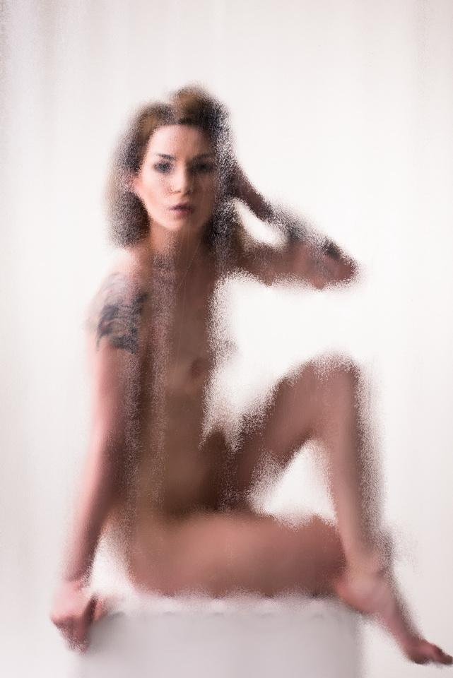Aktshooting - Akt - Glas - Nebel - Fotoworkshoo KIel
