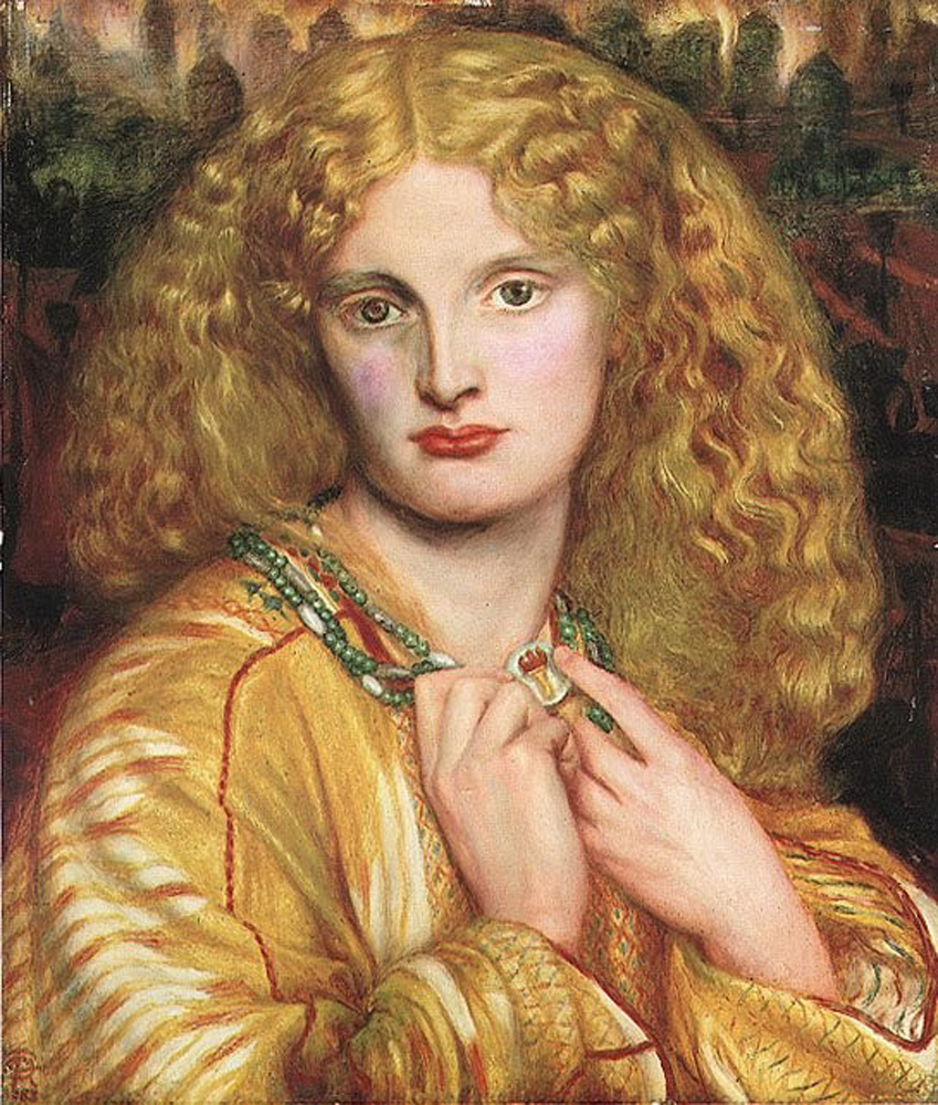 Helen of Troy, by Dante Gabriel Rossetti. Annie Miller was the model for Helen.