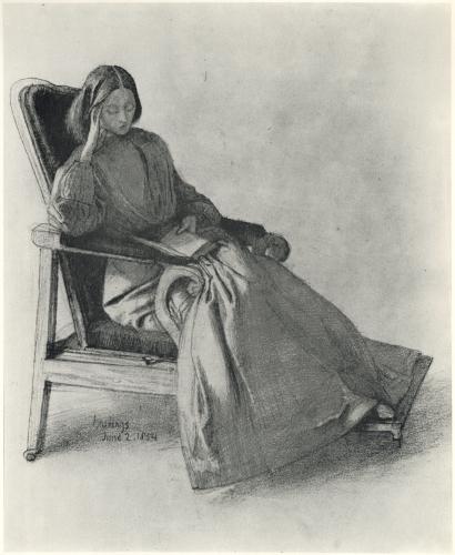 Elizabeth Siddal, by Dante Gabriel Rossetti.