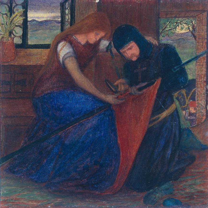 Lady Affixing a Penant to a Knight's Spear, by Elizabeth Siddal.
