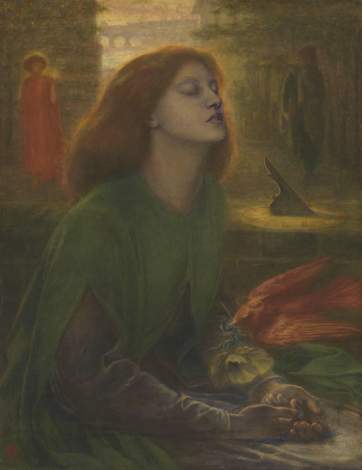 Beata Beatrix, by Dante Gabriel Rossetti.