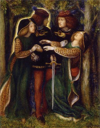 How They Met Themselves, by Dante Gabriel Rossetti.