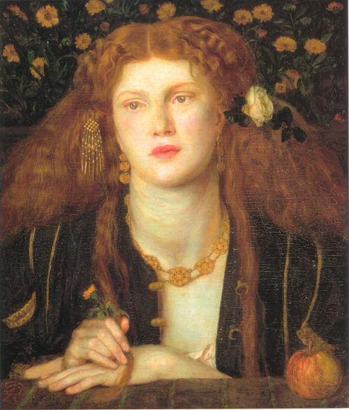 Bocca Baciata, by Dante Gabriel Rossetti. The model was Fanny Cornforth.